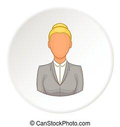 Teacher icon, flat style