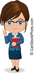 Teacher - Cute cartoon illustration of a teacher