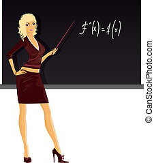 Teacher - Vector illustration of Teacher
