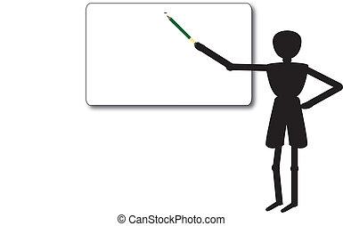 teacher in class educate people