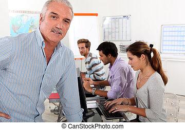 Teacher in management training