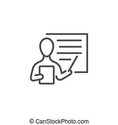Teacher, instructor vector icon symbol isolated on white background