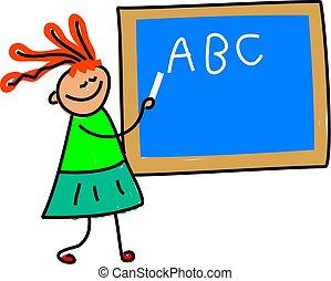 teacher kid - i want to be a teacher when i grow up -...