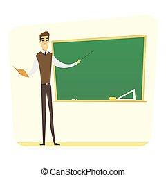 Teacher man concept