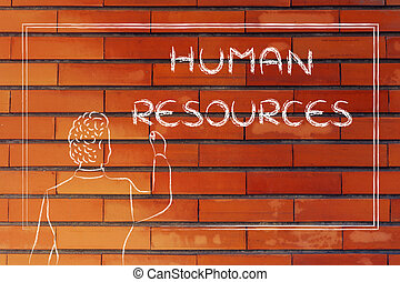 teacher or ceo explaining about human resources