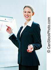 Teacher - Portrait of confident teacher explaining a new...