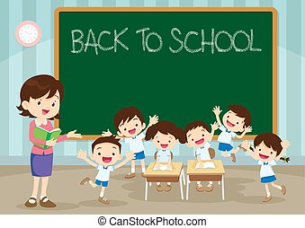 teacher pupil back to school