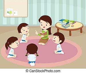 teacher reading for student