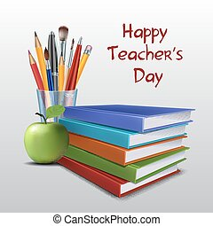 Teacher s Day vector card.
