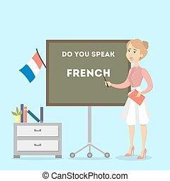 teacher., samica, francuski