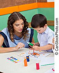 Teacher Student In Class