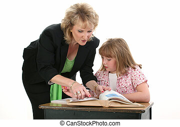 Teacher Student Kid - Teacher Helping Student One on One. ...