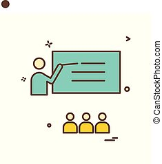 teacher student school icon vector design