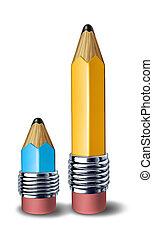 Teacher student symbol - Teacher and student symbol showing...