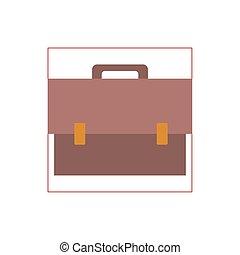 teacher suitcase flat style icon