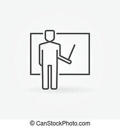 Teacher vector icon