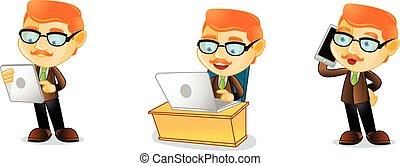 Teacher with laptop mascot