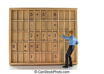 wooden education board