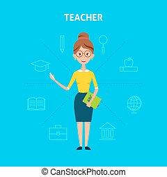 Teacher Woman Character Concept