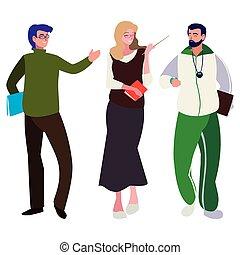 teachers classic and sports avatars characters
