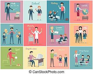 Teachers Day. Set the Teaching Profession - Teachers day....