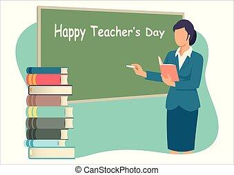 teacher?s, heureux, jour