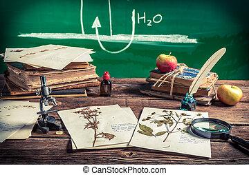 Teaching biology at vintage school