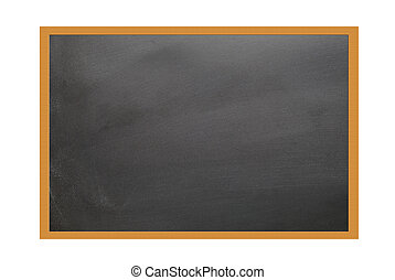 teaching blackboard - school blackboard on white background