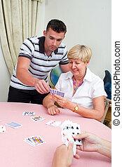 teaching card game