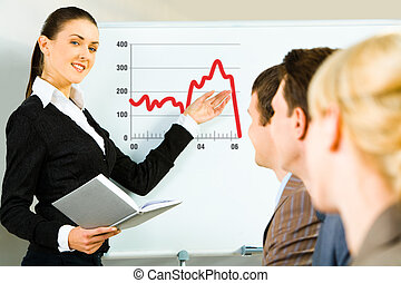 Teaching - Portrait of confident woman teaching a lecture...