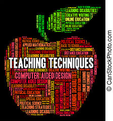 Teaching Techniques Means Tutor Teacher And Taught -...