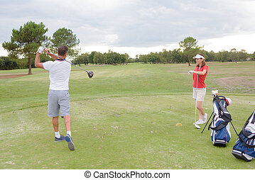 teaching the golf position