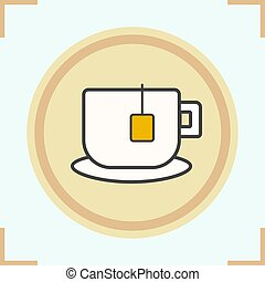 Teacup color icon