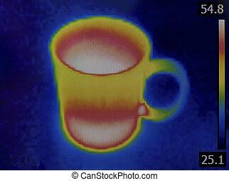 teacup, infrarrojo, imagen
