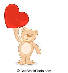 Teady Bear holding Heart