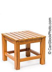 teak, chaise, bois
