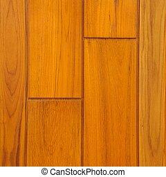 teak, moderne, closeup, bois, pattern.