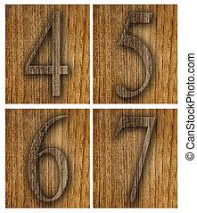 Teak wood 4-7 blocks.