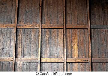 teak wood wall background