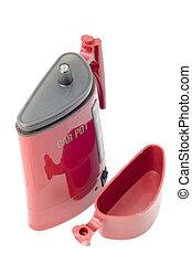 teakettle - series object on white - tool - car pot