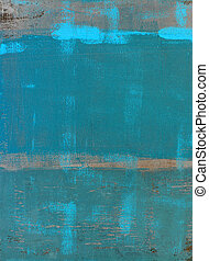 Teal Abstract Art