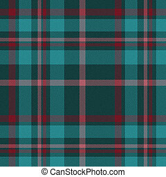 teal and red plaid