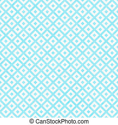 Teal and White Diagonal Squares Tiles Pattern Repeat...