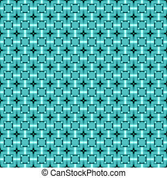 Teal geometric mosaic detailed seamless textured pattern background