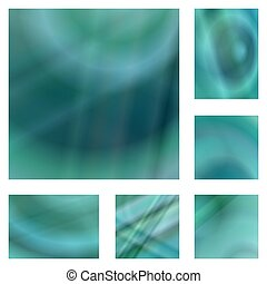 Teal gradient abstract background design set