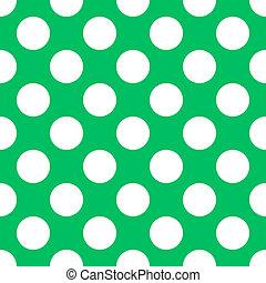 Teal Green Polka Dot Seamless Paper Pattern