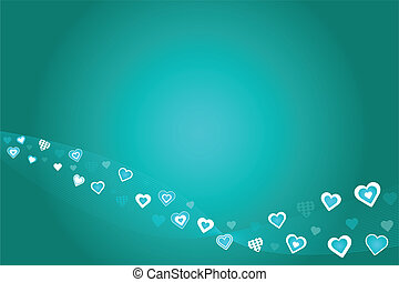 Teal Hearts Background