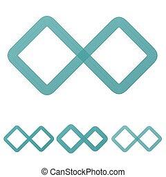 Teal line infinite logo design set