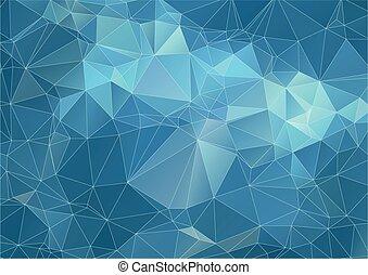 Teal marine triangle Background
