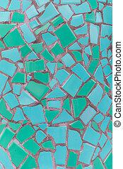 Teal Mosaic Tile Texture